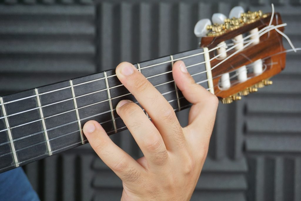 Acorde Re sostenido flamenco guitarra flamenca